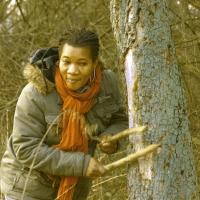 Florence Etsey - tree drumming